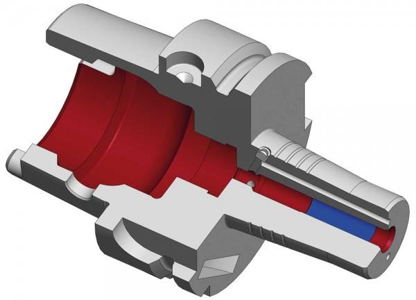 Schrumpffutter PYROquart HSK-A63 mit Kühlkanalbohrung