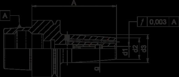 Schrumpffutter Standard HSK-E40 mit Kühlkanalbohrung