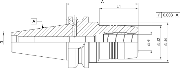 Hydrodehnspannfutter BT40