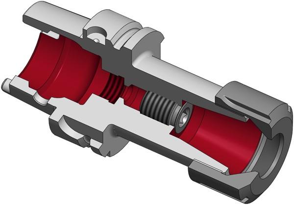 Spannzangenfutter HSK-A40 mit Spannmutter für Dichtscheiben