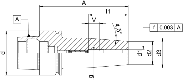 Schrumpffutter Standard HSK40E