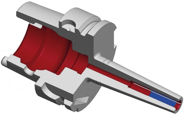 Schrumpffutter TSF HSK-A63 Schlanke Ausführung mit Kühlkanalbohrung