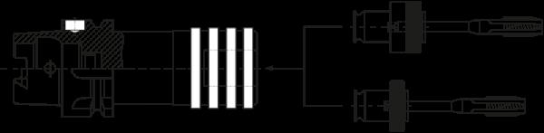 Gewindeschneidfutter HSK-A63