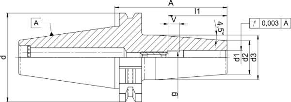 Schrumpffutter SK40 DIN 69871 A – D