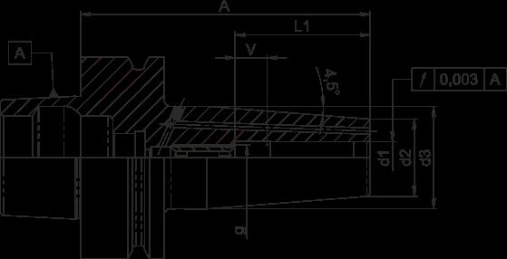 Schrumpffutter HSK-F63 Standard mit Kühlkanalbohrung