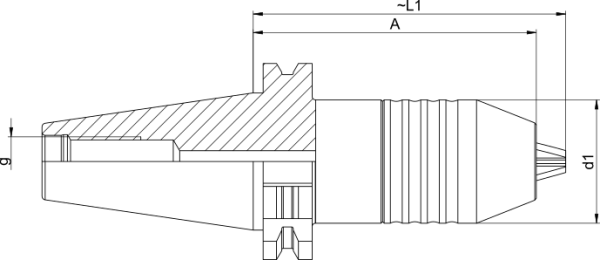 NC-Bohrfutter SK40 DIN 69871 AD