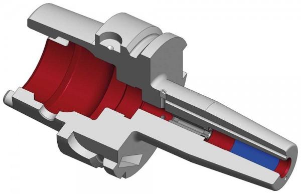 Schrumpffutter HSK-A63 mit Kühlkanalbohrung
